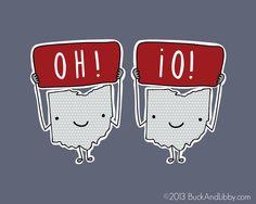 Ohio State Buckeyes O H I O Illustration Doodle by BuckAndLibby, $10.00