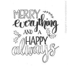 Handlettering door www. Hand Lettering Quotes, Calligraphy Quotes, Creative Lettering, Typography Quotes, Brush Lettering, Christmas Cards, Christmas Bells, Christmas Printables, Christmas Presents