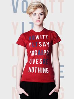 ORGANIC red Tshirt women's graphic slim fit tee by mmhm on Etsy