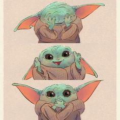 Cute Disney Drawings, Cute Drawings, Yoda Drawing, Yoda Images, Baby Animals, Cute Animals, Cuadros Star Wars, Yoda Funny, Star Wars Pictures