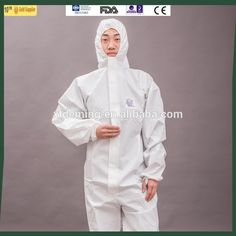Disposable White Protective Safety Clothing Coverall
