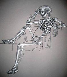 Skeleton Study - by Mon Amour Malade - on DeviantArt Skeleton Muscles, Human Skeleton Anatomy, Human Anatomy Drawing, Anatomy Study, Body Drawing, Skeleton Drawings, Skeleton Art, Skeleton Makeup, Skull Makeup