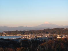 Kamakura and Mt. Fuji, from panorama deck.
