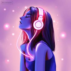 Digital Art Anime, Digital Art Girl, Cartoon Kunst, Cartoon Art, Cartoon Girl Drawing, Girl Cartoon, Cute Girl Wallpaper, Painting Wallpaper, Painting Canvas
