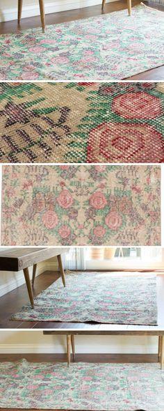 Vintage Distressed Turkish Kilim Runner Rug @sfrugsonline https://sfrugs.com/collections/frontpage/products/vintage-turkish-distressed-runner-rug-3x6-kilim-rug-kitchen-rug  -  Kilim rug, vintage rug, turkish rug, distressed rug, runner rug