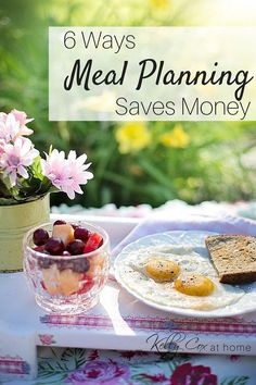 Meal Planning saves money,  time and effort!  Just think you'll never have to hear that 5:00 PM question:  What's for dinner?!