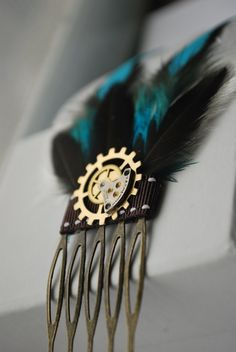 Steampunk Hair Accessory One Of A Kind by ThePaintedEpoxy on Etsy, $30.00