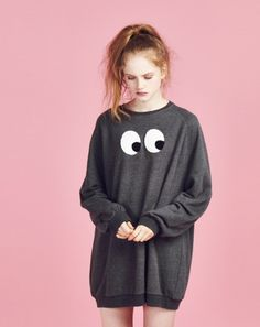 Looks suuuper comfy. this with a nice pair of thick socks for the winter? i would totally buy it! Lazy Oaf Eyeball Sweatshirt