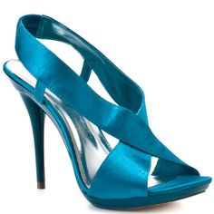 Tallie - Turquoise Satin Pu By  Michael Antonio