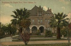 Residence, St. Charles Ave. New Orleans Louisiana