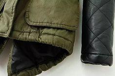 Women Winter Warm Faux Leather Sleeves Hoodie Parka Jacket Coat Outerwear at Amazon Women's Coats Shop