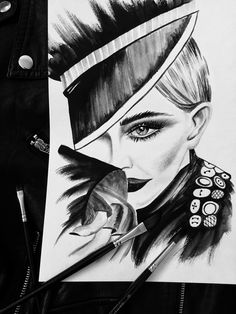 Madonna rocking the Vogue Deutschland. #nataliadorosh#voguecover #fashionillustration #art ##blackandwhite  #mariotestino #arte #artlovers #instaartoftheday #myart #artwork #illustration #graphicdesign #graphic #jeremyscott  #blackandw #vogue #drawings #ukrainiandesigner #watercolor #watercolour #ink #fashion #moschino #акварель #pencil #artistsofinstagram #artistsoninstagram #endiart