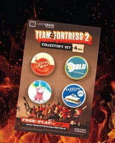 """Continuing the theme of uniting random people together, Loot Crate picked Team Fortress -- the video game where everybody works together. See how it fits into """"Unite""""?"""