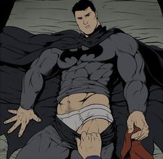 Supermann og Batman homofil porno