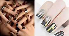 If you are looking a lot of pictures for a new nail art designs always check our new updates. We always present you really cute and cool easy designs. New Years Nail Designs, New Years Nail Art, Nail Art Designs Images, New Nail Art Design, Nails Design, New Year's Nails, Toe Nails, Cool Easy Designs, Sephora