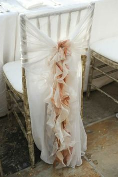 Ruffled Wedding Chair Covers and Sashes |  Firfirli Sandalye Kilifi- I absolutely love this!!!