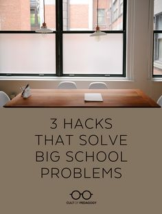 Teachers are not short on problems. But you don't have to wait for a committee or a bigger budget to start solving them. Take these 3 hacks, for example. Teaching Strategies, Teaching Tools, Teacher Resources, Teaching Ideas, Middle School Classroom, English Classroom, English Teachers, Classroom Setup, Educational Leadership