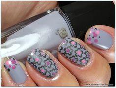 3/3/13 - Stamping & Dots - Lancome 407N, 419B, 306, China Glaze Attraction (stamping polish) & Winstonia W110