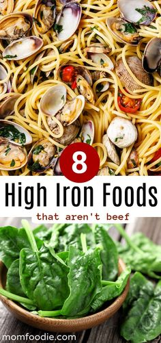 High Iron Foods... that aren't beef... Yes- beef may be one of the richest sources of iron out there, but it doesn't mean it is the only source. There are many other foods high in iron (a lot of vegan ones too) that can give you a good amount of this important mineral without taking iron supplements or eating red meat. ...  #nutrition #healthyfood #diet #healthyeating