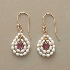 PINK AND PEARL EARRINGS. These could be made better than this. Come on Sundance.