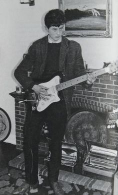 Jimmy Page, 1958, the Selmers Futurama guitar, on a show on Denmark Street, London