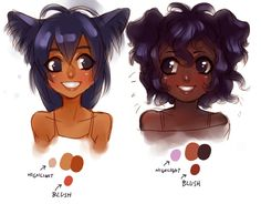 dark skinned girl anime | thoughts about dark skin tones by =FOERVRAENGD on deviantART  didn't make it but were lookin'g for a few