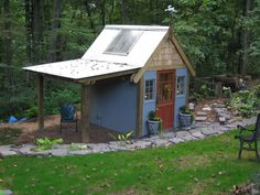 Potting house and lean to...should do this with the old playhouse