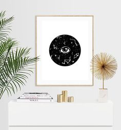 Items similar to Celestial Eye Luxury Pen & Ink Illustration Print - or on Etsy Luxury Pens, Ink Illustrations, A5, I Shop, Tapestry, Celestial, Unique Jewelry, Handmade Gifts, Etsy