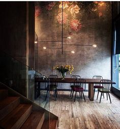 "1,592 Likes, 29 Comments - Ashley Stark Kenner (@ashleytstark) on Instagram: ""Saturday dinner in. Via @adesignersmind • • • • • #art #interior #interiordesign #architecture…"""