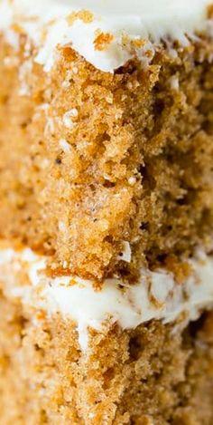 Spice Cake #spicecake #cake #layeredspicecake Spice Cake Recipes, Homemade Cake Recipes, Healthy Dessert Recipes, Easy Desserts, Delicious Desserts, Yummy Food, Sweet Recipes, Easy Recipes, Yummy Cakes