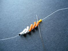 How to Bead a Candy Corn Bracelet