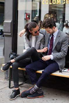 On the Street….LaFayette St., New York - The Sartorialist perfect pairing