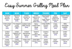 Easy Summer Grilling Meal Plan :: Lots of healthy dinner recipes ideas and ideas for your next barbeque! Chicken, shrimp, fish, steak, and more! [AD] #LISTERINEMom