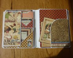 Foto Folios Minis created by crafter  Carolyn Summers using  Graphic 45 paper collection.   Click on the link below to purchase the tutorial.   http://shop.paperphenomenon.com/Foto-Folios-Minis-TUT090.htm