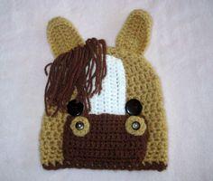Horse hat Crochet horse hat Baby animal hats by AdrisLittleCuties