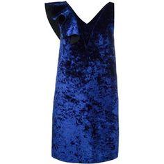 MSGM ruffled velvet dress