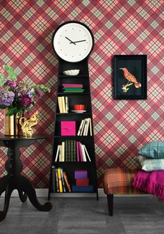 Would love this clock bookshelf to replace the old school curio cabinet in our dining area.