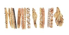 ashley morgan hand made by wax carvings gold and diamond stackable rings. my forever fav.