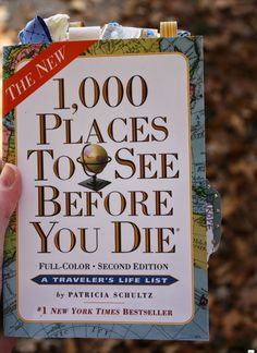 How awesome is this custom 1,000 Places to See Before You Die Altered Journal?!