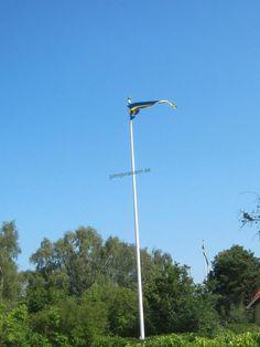 En av Åke stolthet, flagg masten