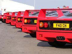 Ferrari F40's line up