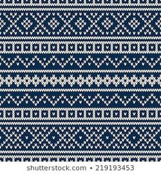 Similar Images, Stock Photos & Vectors of Seamless Fair Isle Knitted Pattern. Festive and Fashionable Sweater Design - 230600785 Crochet Mittens Free Pattern, Fair Isle Knitting Patterns, Fair Isle Pattern, Knitting Charts, Knitting Stitches, Knit Patterns, Sock Knitting, Free Knitting, Stitch Patterns