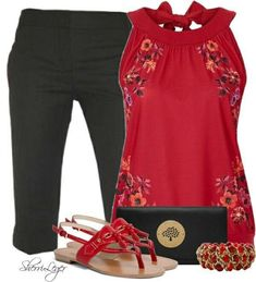 Different color red for me but LOVE the outfit!