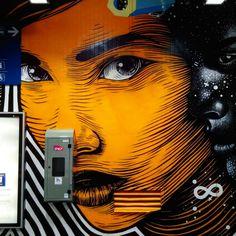 Artist : dourone - quai 36 gare du nord juin 2015