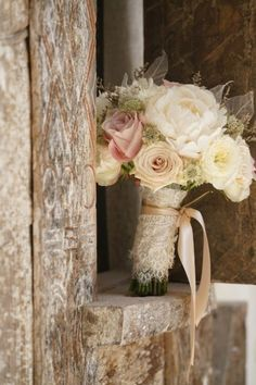 This gorgeous flower bouquet for your wedding flowers ideas | An Elegant Flowery Wedding With Shades Of Blush And Champagne | http://www.bridestory.com/blog/an-elegant-flowery-wedding-with-shades-of-blush-and-champagne