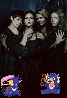 Awesome Zelena Emma Regina Snow in awesome art