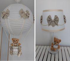 Lámpara globo y lampara de mesila personalizada con su nombre