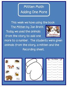 """""""Printables"""" - Adding One More - A great math activity and story extension for Jan Brett's """"The MItten"""""""