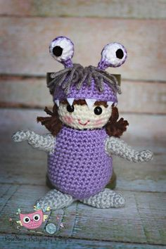 Made to order Crochet Boo doll inspired from Monsters Inc