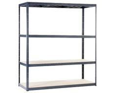 ALDI SUISSE AG - WORKZONE® SCHWERLASTREGAL XXL Bookcase, The Unit, Shelves, Home Decor, Shelf, Shelving, Bookcases, Shelving Units, Interior Design